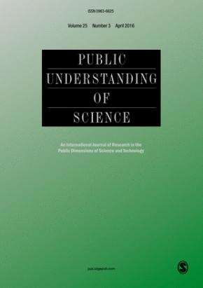 """Nuova direzione per la rivista """"Public Understanding ofScience"""""""